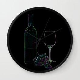 Neon Wine Wall Clock
