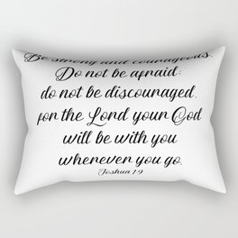 Joshua 1 9 #minimalism Rectangular Pillow