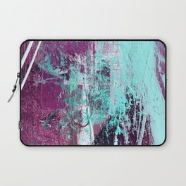 01012: a vibrant abstract piece in teal and ultraviolet Laptop Sleeve