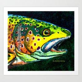 Tumbling Trout Logo - Trout Head Art Print