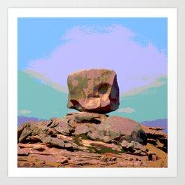 Rock bretagne Art Print
