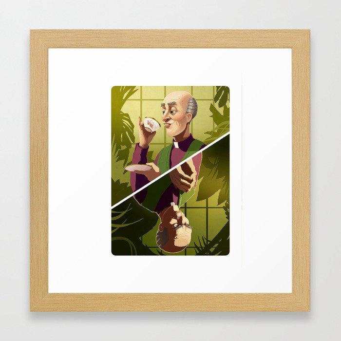 Reverend Green Framed Art Print