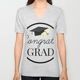 Congrats Grad - congratulations for Graduation Unisex V-Neck