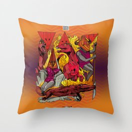The Vulcaen Fire Tribe of The Obsidian Flame Throw Pillow