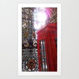 Hello London Art Print