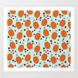 Super Canadian Maple Syrup Pattern Art Print