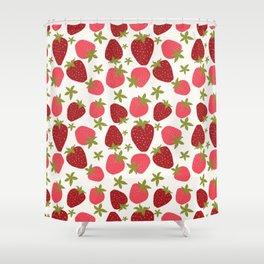 Modern Strawberry Summer Fruit Shower Curtain