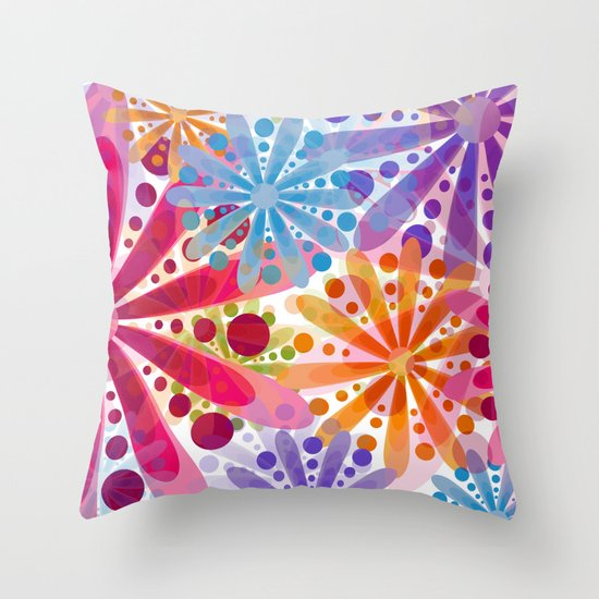 Flower 32 Throw Pillow