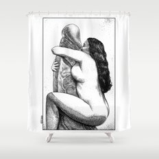 asc 640 - L'Itiphalle (Can't get enough of your love, Darling) Shower Curtain