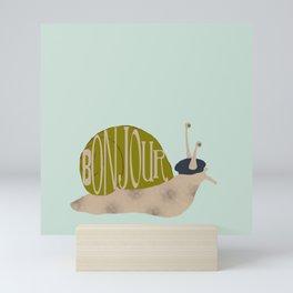 French Snail Mini Art Print