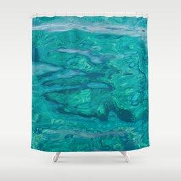 Mediterranean Water Shower Curtain