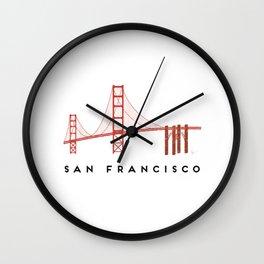 Golden Gate Bridge 2, San Francisco, California Wall Clock