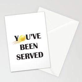 You've Been Served Stationery Cards