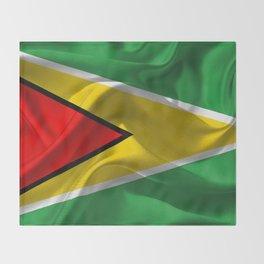 Guyana Flag Throw Blanket