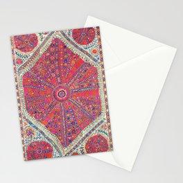Large Medallion Suzani  Antique Uzbekistan Embroidery Print Stationery Cards