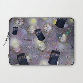 time and space dr who tardis watches Laptop Sleeve