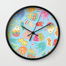Microbe theme Wall Clock