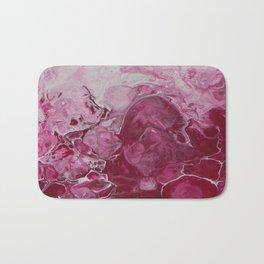 Magenta Love, abstract acrylic fluid painting Bath Mat