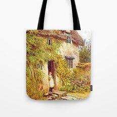 Girl in Doorway Tote Bag