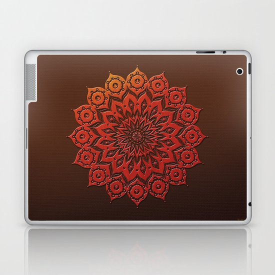 okshirahm woodcut Laptop & iPad Skin