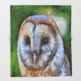 Tawny Owl In The Style of Camille Throw Blanket