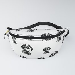 GERMAN POINTER SHORTHAIRED DOG, CHRISTMAS GIFT WRAPPED FOR ALL Fanny Pack