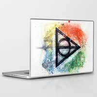 deathly hallows Laptop & iPad Skins featuring Deathly Hallows  by Luke Jonathon Fielding
