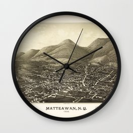 Aerial View of Matteawan, New York (1886) Wall Clock