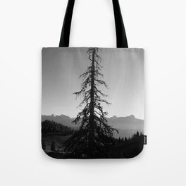 Black Tree in the Mountains Tote Bag