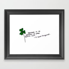 Luck Framed Art Print