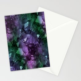 Crystal Geode Stationery Cards