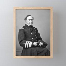 Admiral David Farragut Portrait Framed Mini Art Print
