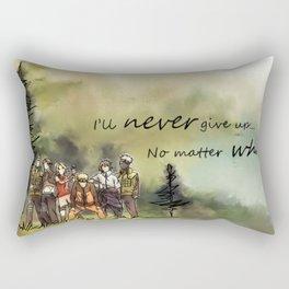 Team 7 Never Give Up Rectangular Pillow