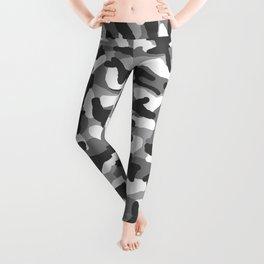 Grey Gray Camo Camouflage Leggings