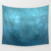 water colour Wall Tapestries featuring Water by wolfanita
