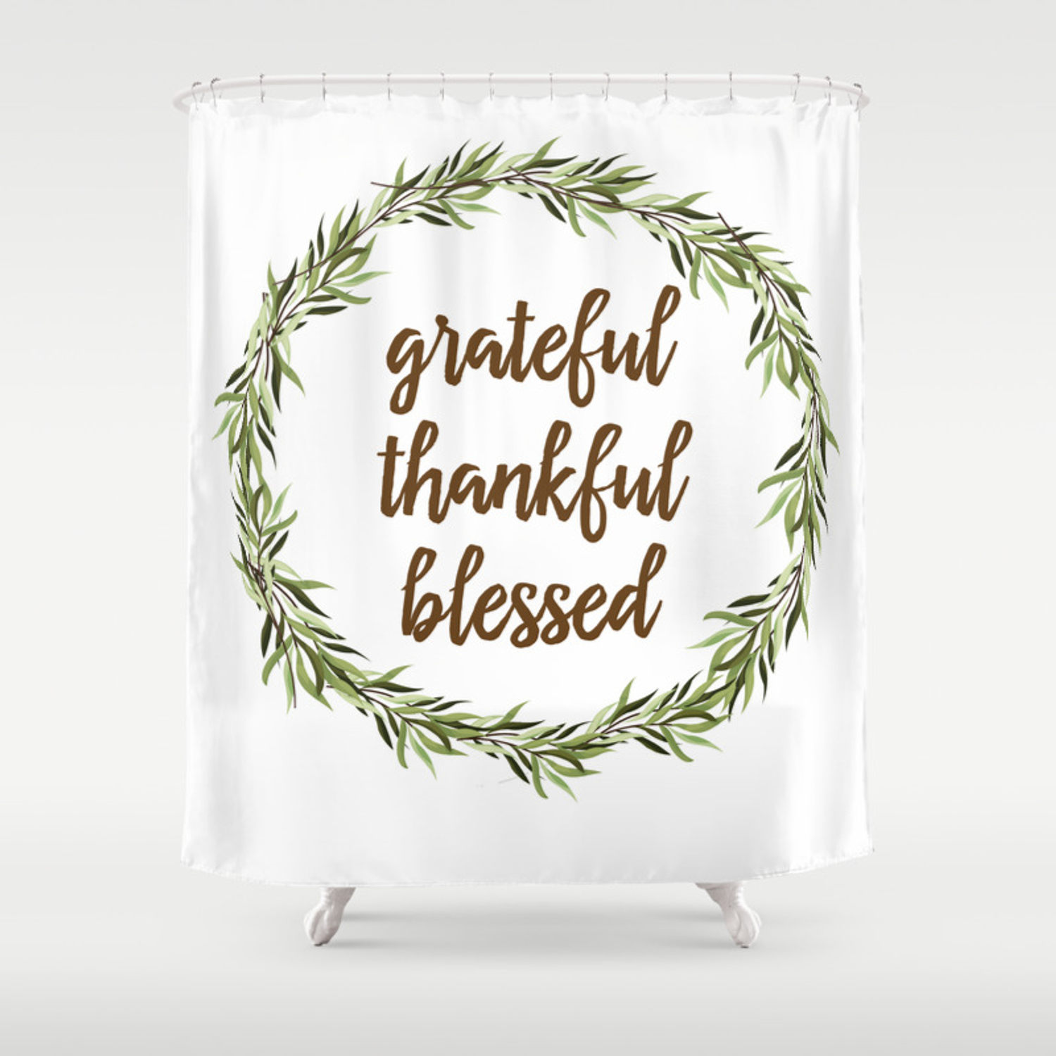 Grateful Thankful Blessed Shower Curtain By Suttonplacedesigns Society6