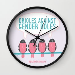 #BreakTheBinary (Orioles Against Gender Roles) Wall Clock