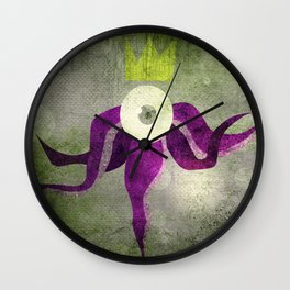 King octopus in grey Wall Clock