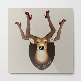 High Heels Deer Metal Print