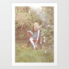 little rocking horse Art Print