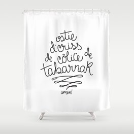 Sacres Québec - Black Shower Curtain
