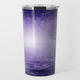 the Sea and the Universe ultra violet version Travel Mug