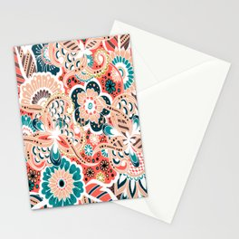 multi-colour floral print Stationery Cards