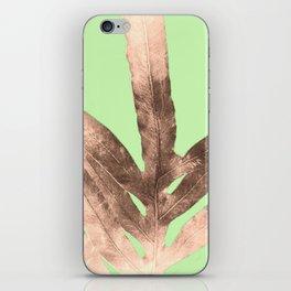 Antique Sepia Fall Green iPhone Skin