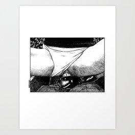 asc 499 - La bonne prise (A strong grip) Art Print