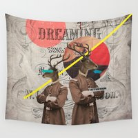 guardians Wall Tapestries featuring Animal Collection -- The Guardians by Elo Marc