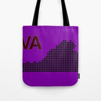 virginia Tote Bags featuring Virginia by Hum Chee
