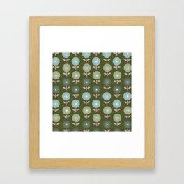 Atomic Age Flower Pattern 4 Framed Art Print