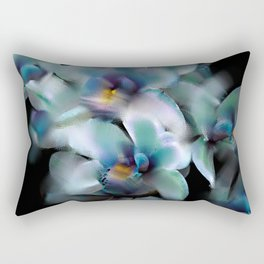 Teal Orchid Rectangular Pillow