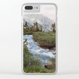 Alpine River and Mountains Clear iPhone Case